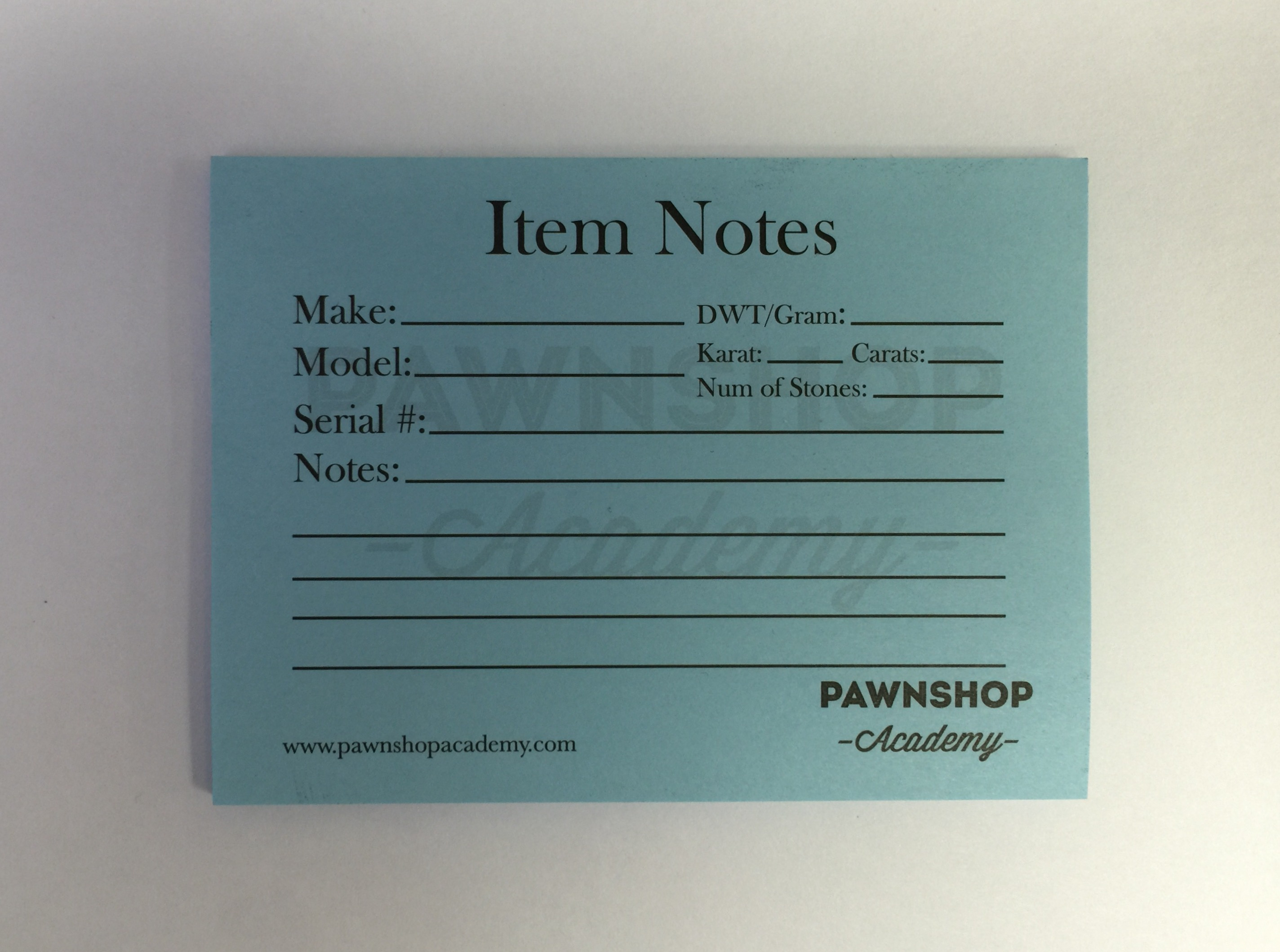 Pawnshop Academy Notepads (Pack of 10)